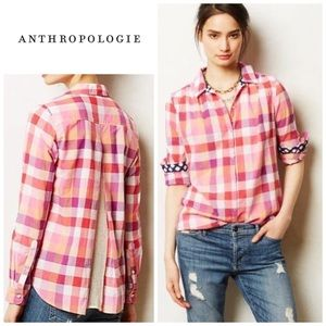 Anthropologie Altay lace back button-down shirt